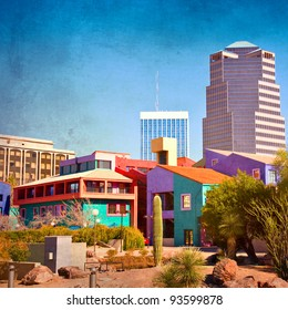 Downtown Tucson, Arizona with la Placita