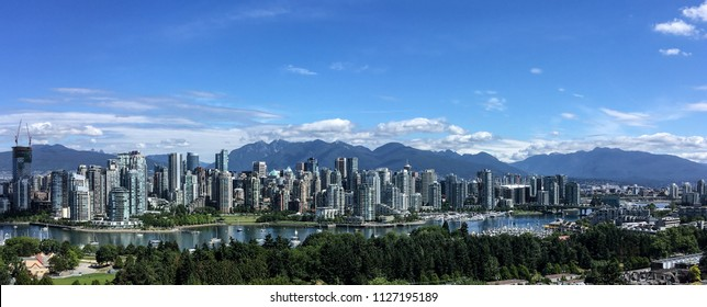 Downtown Vancouver, BC, Canada on a sunny day.