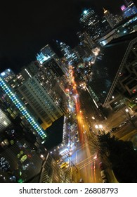 Downtown Vancouver, BC at Night