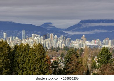 Downtown Vancouver view from Queen Elizabeth Park, British Columbia, Canada