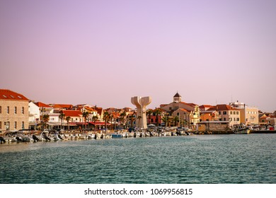Downtown Vodice on the sea coast, Croatia