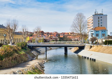 The downtown of Vukovar, Croatia and the banks of the Danube river on a sunny spring day