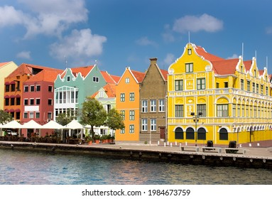 Downtown of Willemstad, Curacao, ABC, Netherlands