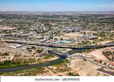 Downtown Yuma, Arizona aerial view in 2009