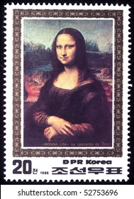 DPR KOREA - CIRCA 1986: A stamp printed in DPR Korea (North Korea) shows Monna Lisa by Leonardo da Vinci, circa 1986