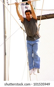 Dr. Jamil Aboulhosn at Kerri Kasem's Birthday party held at the  Flying Gaona Brothers Trapeze School,  Woodland Hills, CA. 07-11-10