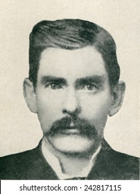 Dr. John H. Holliday (1851-1887) was an American dentist, gambler and gunfighter fought with Wyatt Earp in the Gunfight at the O.K. Corral. Portrait photograph, made by C.S. Fly in Tombstone, 1881.