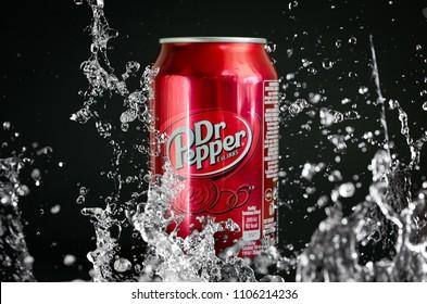 Dr Pepper soft cola drink