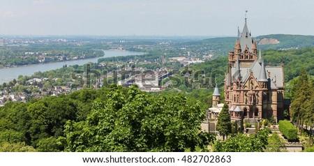Drachenburg Castle overlooking the