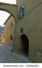 Dracula house at old town of Sighisoara, Transylvania, Romania