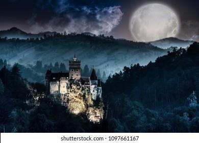 Dracula's Castle - Bran Castle, Romania. Halloween