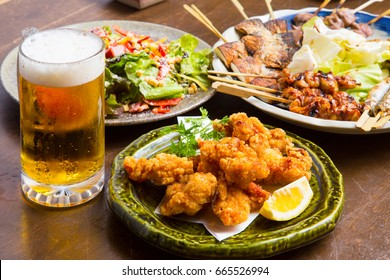Draft beer and cooking in a pub