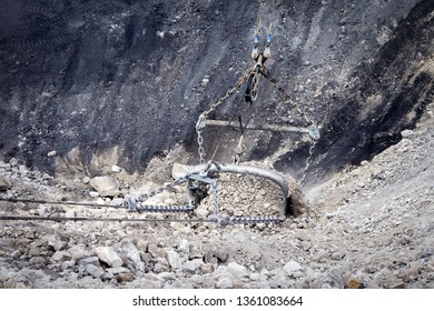 Dragline Bucket at Coal Mine