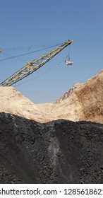 dragline is working in a coalmines in India