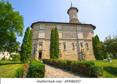 Dragomirna Monastery church is the tallest medieval monastery from Bucovina (northern Moldavia), Unesco heritage site.
