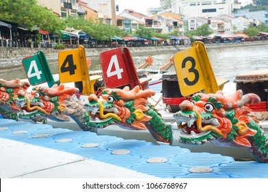 Dragon boat festival at Singapore river, Clark Quay, Singapore