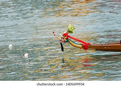 dragon boat head   hong kong  culture