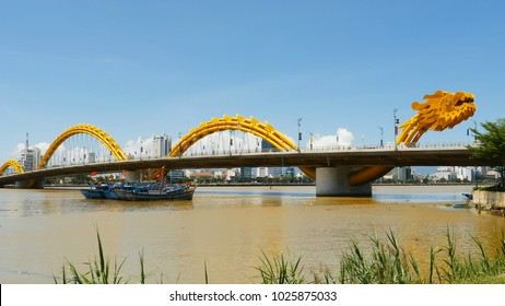 Dragon Bridge in Danang city. Vietnam.