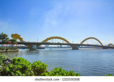 Dragon Bridge on Han River ,Da Nang ,Vietnam.