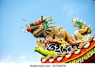 Dragon at a Chinese Buddhist temple.