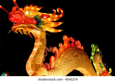 dragon at chinese lantern festival celebrating new years