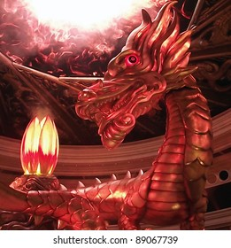 dragon and fire show in macau chine