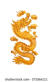 dragon fretwork,isolated on white