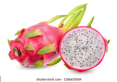 Dragon fruit isolated on white clipping path.