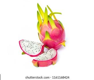 Dragon fruit isolated on whitebackground. food concept