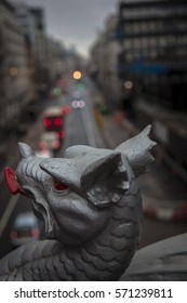 Dragon and Gargoyle Over Road