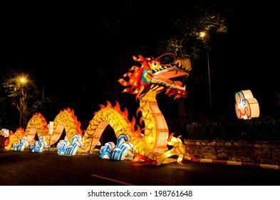 dragon in Hat Yai Park.