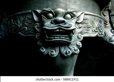 Dragon Head Sculpture