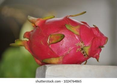the dragon heart or pitaya fruit