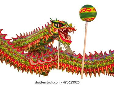 The dragon parade festival Thailand.The Dragons play marbles.