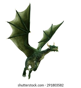 dragon simply flying