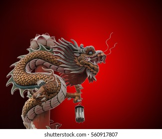 Dragon statue is animal based on the belief of the Chinese people.