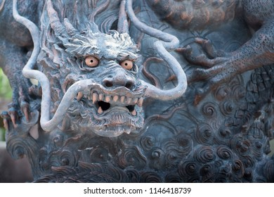 Dragon Statue Close up