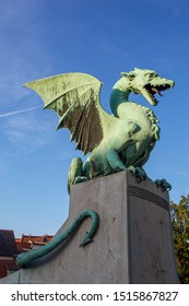 The dragon is the symbol of Ljubljana and has pride of place on the city coat of arms and on the Dragon Bridge