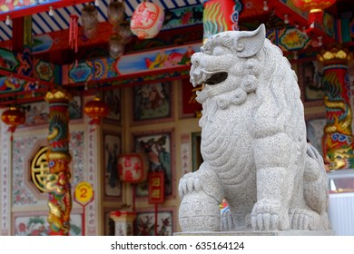 dragon-headed called qilin or kyli kylynunicorn Ancient rock carvings in joss house