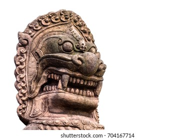 Dragon-headed unicorn style thai. called qilin or kylin is a mythical chimerical creature known in East Asian cultures.