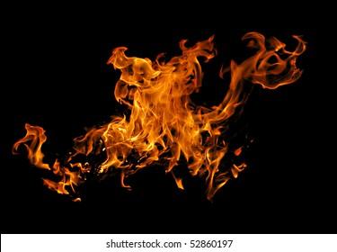 dragon-shaped fire