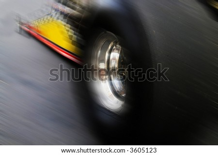 Dragracing Car Motion Stock Photo (Edit Now) 3605123