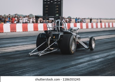 Dragster on the speedway