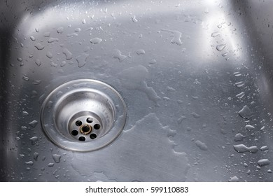 drain and flowing water for background