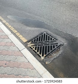 Drainage water getting diversion from the manhole due to poor workmanship in compaction which leads uneven settlement of soil