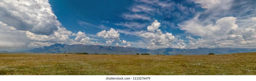 Drakensberg Mountains Escarpment Panorama, South Africa