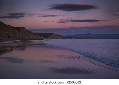 Drakes Beach in the Point Reyes Seashore at Dusk
