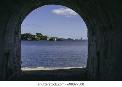 Drake's Island, Tunnel, Royal William Yard, Plymouth, Devon, South West, England, United Kingdom