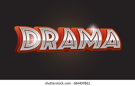Drama city. text suitable for headline and title