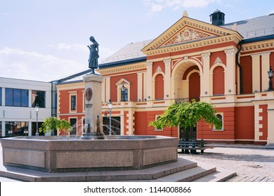 Drama theatre at the center of Old town of Klaipeda in Lithuania, Eastern European country on the Baltic sea